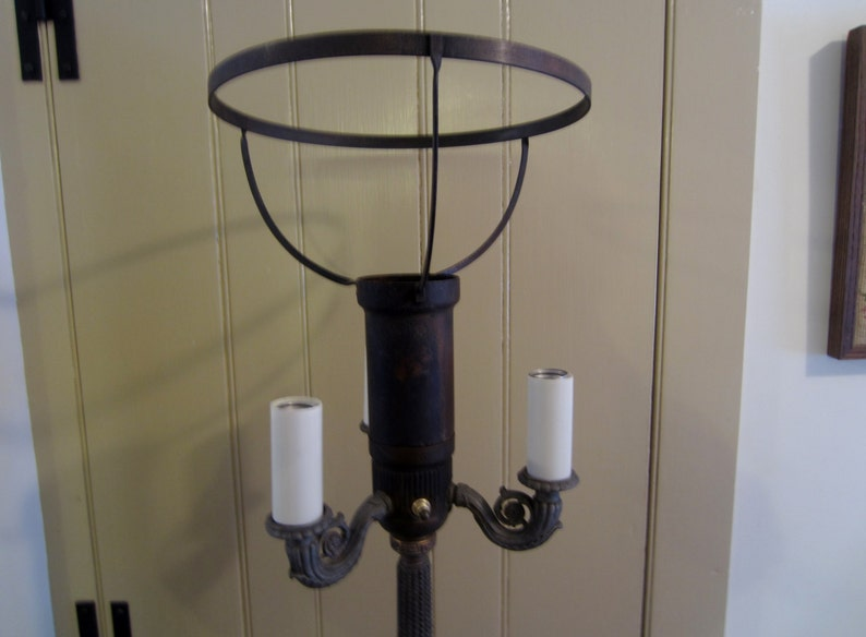 Magnificent Vintage Floor Lamp One Piece Of The Top Band Needs Sodering Etsy Wiring Digital Resources Operpmognl