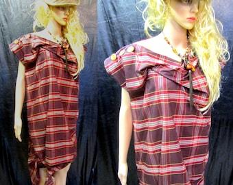38a596d6c1e BURBO  Bad Instinct  dress in Tartan Taffeta