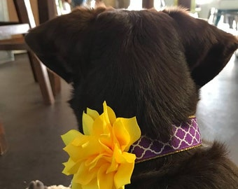 3 inch Yellow Lotus Flower Collar Accessory