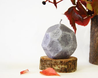 Geometric Candle, Faceted Concrete Candle, Urban Home Decor, Modern Home Gift
