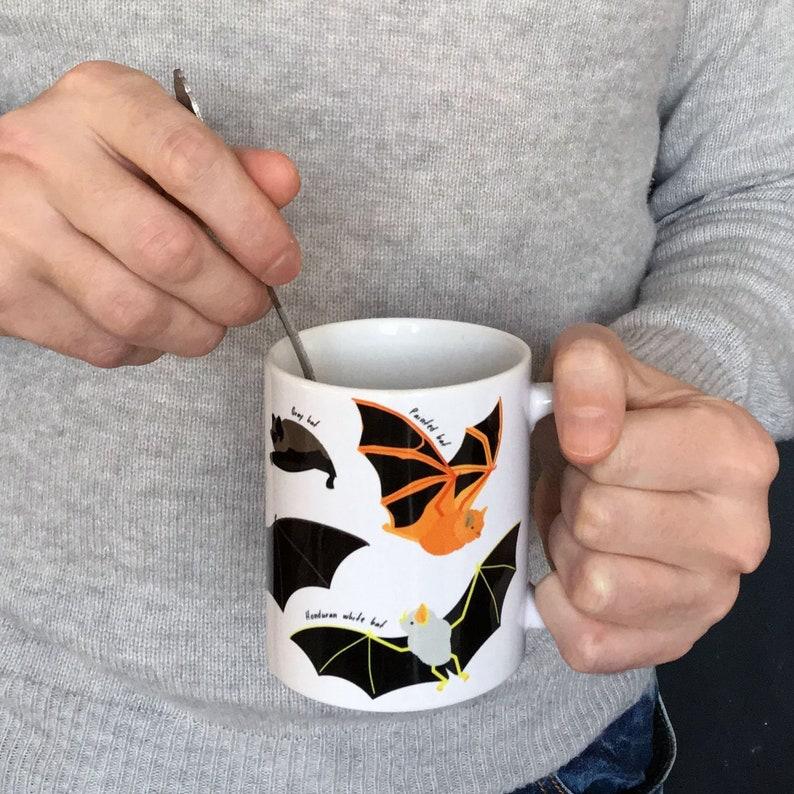 Endangered Bat Species Mug  Coffee cup  Tea cup Dishwasher image 0