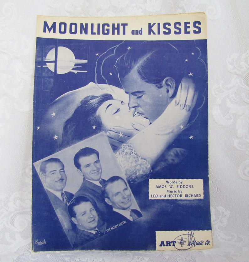 Moonlight and Kisses Antique Piano Sheet Music by Leo and image 0