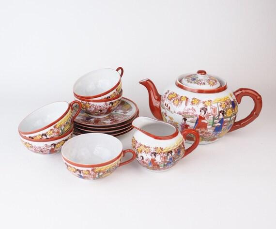 Japanese Made Fine Antique Porcelain Tea Set Lithophane Etsy