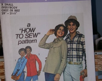 ca7dbbe0ae3 Simplicity 7826 men s or women s Everybody s shirt and hat chest or bust  29