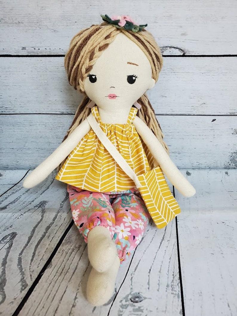 Cloth doll rag doll heirloom doll fabric doll image 0
