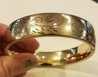 Victorian Era Goldfilled Engraved Bangle