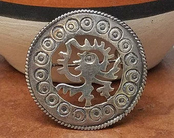 Vintage José Aton Taxco Mexico Sterling Silver Brooch Pin