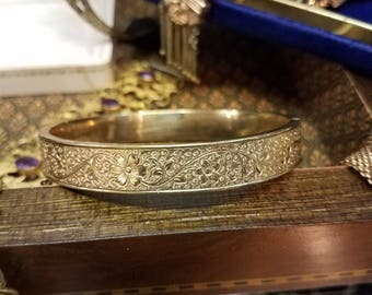 1890s Era Victorian Gold Filled Bangle