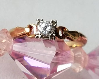 1940s Era 14K Yellow Gold Diamond Ring