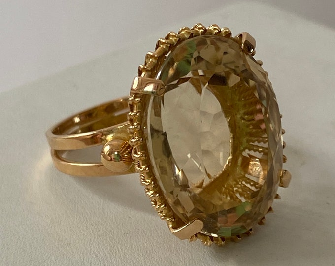 Spectacular 18k Natural Citrine Kapow Ring