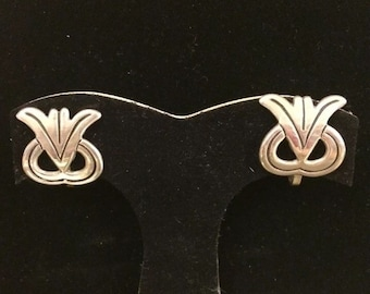 Vintage Taxco Mexican Sterling Silver Screwback Earrings