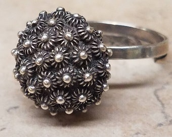 Vintage Taxco Mexico Sterling Modernist Ring