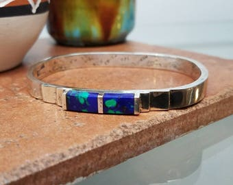 Mexico Azurmalachite Sterling Bangle