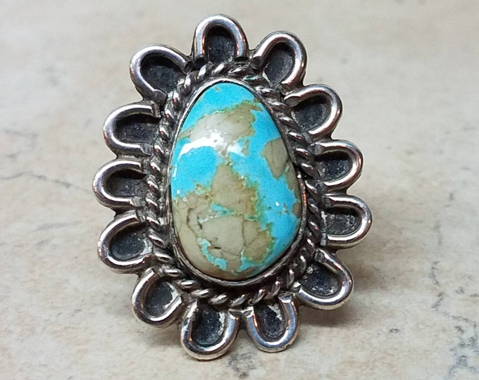Southwest Sterling Turquoise Ring