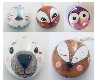 Kits 2 boules de Noël tendres et féériques à colorier