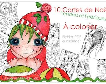 Cartes de Noël tendres et féériques
