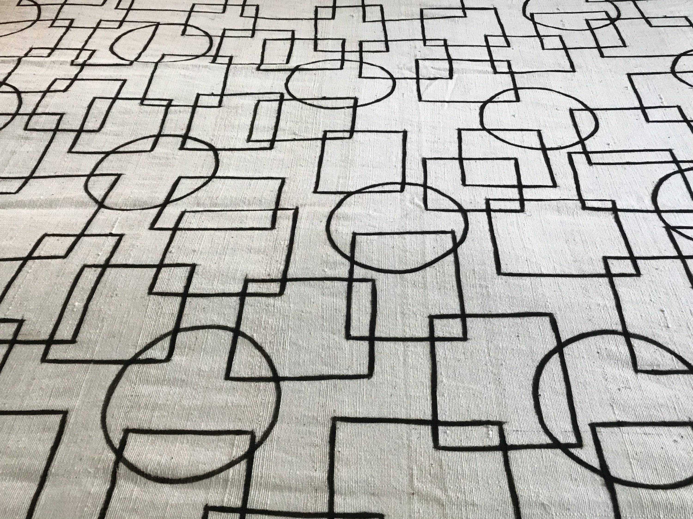 Blanc Mudcloth Textile, Textile, Textile, couverture ethnique, Mudcloth tissu, tapisserie ethnique 182b73