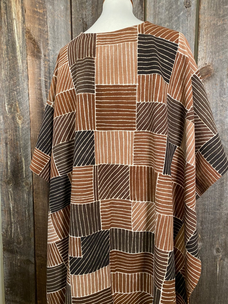 Unique Mudcloth Reversible Mudcloth Shawl Bogolan Mudcloth Kimono Modern Mudcloth Ruana