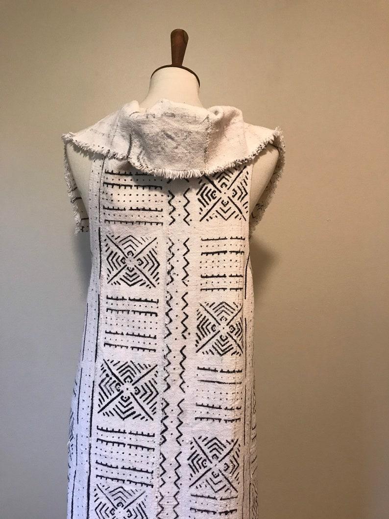 Reversible Mudcloth Duster Unique Mudcloth Fabric African fashion Ethnic Vest Mudcloth Vest