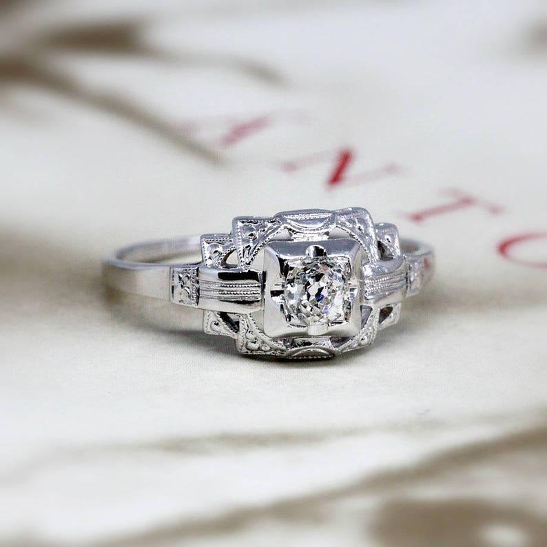 6a599aeb014c Edwardian Diamond Engagement Ring Antique Lambert Bros Art