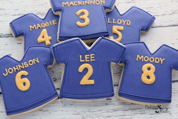 info for 0bb4e 7a134 Football Jersey Personalized Decorated Sugar Cookies, Boys Birthday  Cookies, Sports Cookies, Football Party, Superbowl Cookies