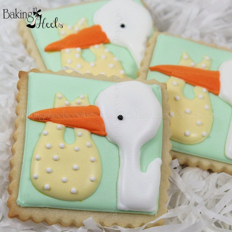 Baby Shower Cookies Baby Shower Favors We're Expecting