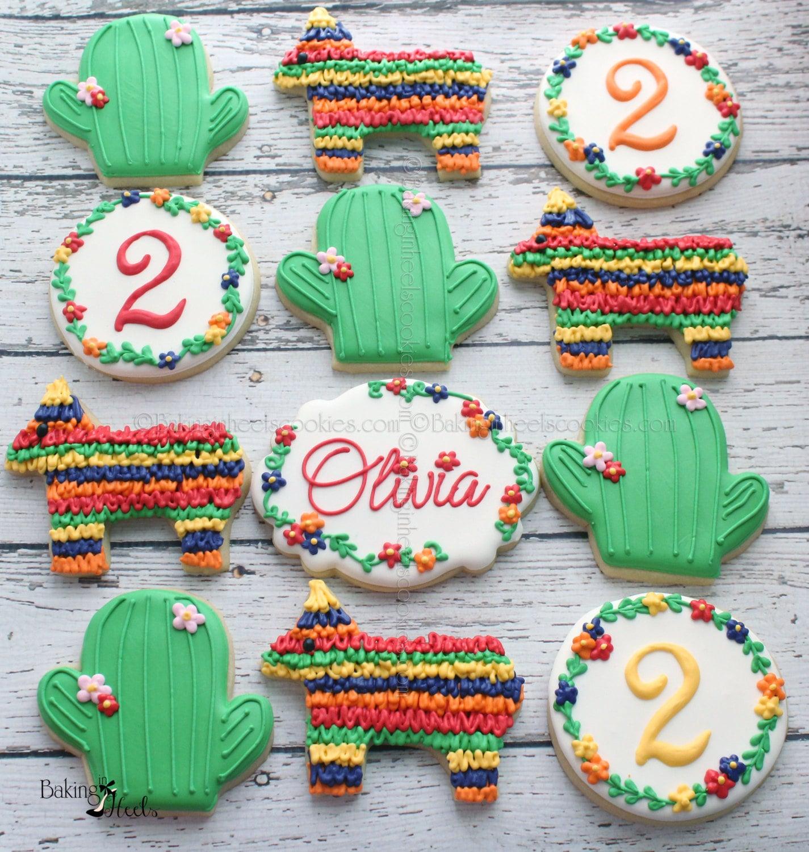 Fiesta Birthday Cookies Mexican Cookies Piñata Cookies