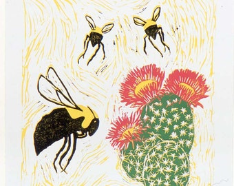 Bumblebee and Cactus