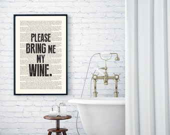 Hotel California Book Page - The Eagles Lyrics Typography Print