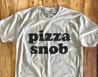 Pizza Snob Tee - Crew Neck - Vintage Style Tshirt
