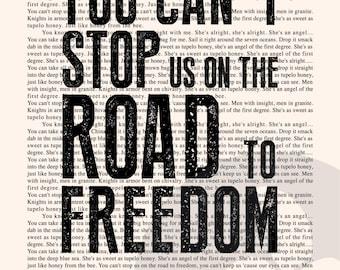 Tupelo Honey Book Page - Van Morrison Lyrics Typography Print