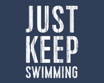 Finding Nemo - Just Keep Swimming - Film Typography Print