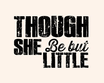 Shakespeare - Though she be but little, she is fierce. - Shakespeare Quote - Typography poster print