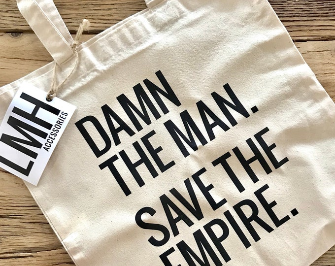 Featured listing image: Damn the Man, Save the Empire Tote Bag | Natural Cotton Tote | Empire Records