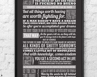 Eastbound and Down - Kenny Powers Speech - Funny quote, speech - Typography poster print