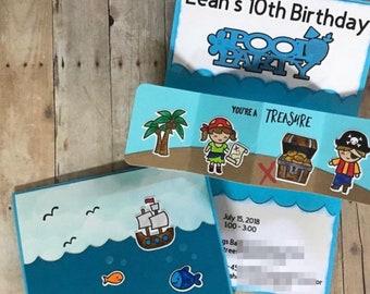 shark party invitations handmade party invites interactive etsy