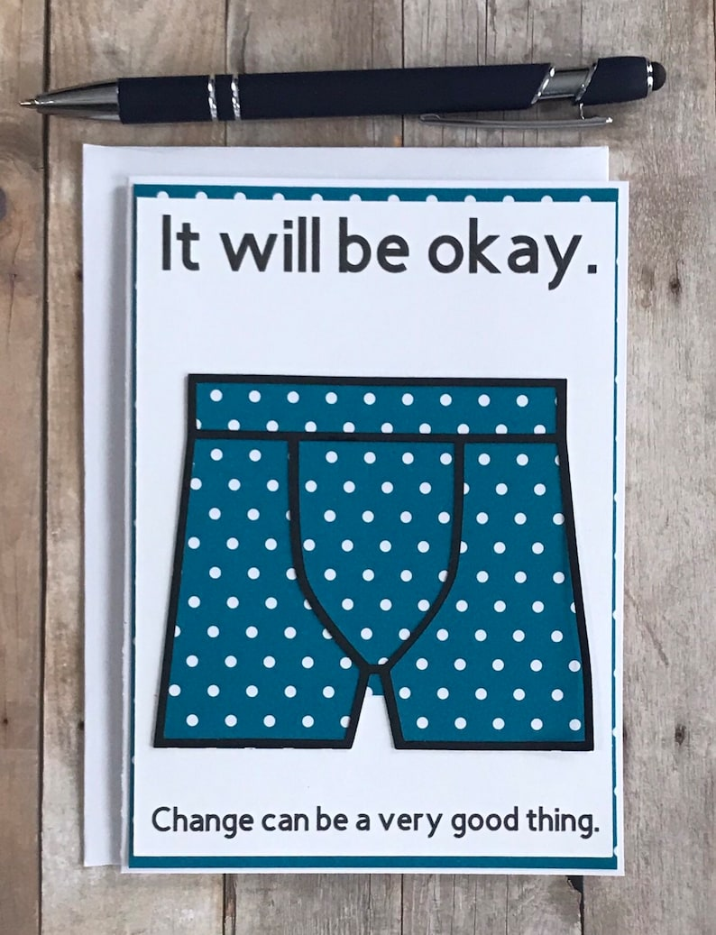 Friendship Gift Friendship Card Funny Briefs for Him Support Card Funny Moving Away Funny Moving Card Funny Sorry Card Briefs for Men
