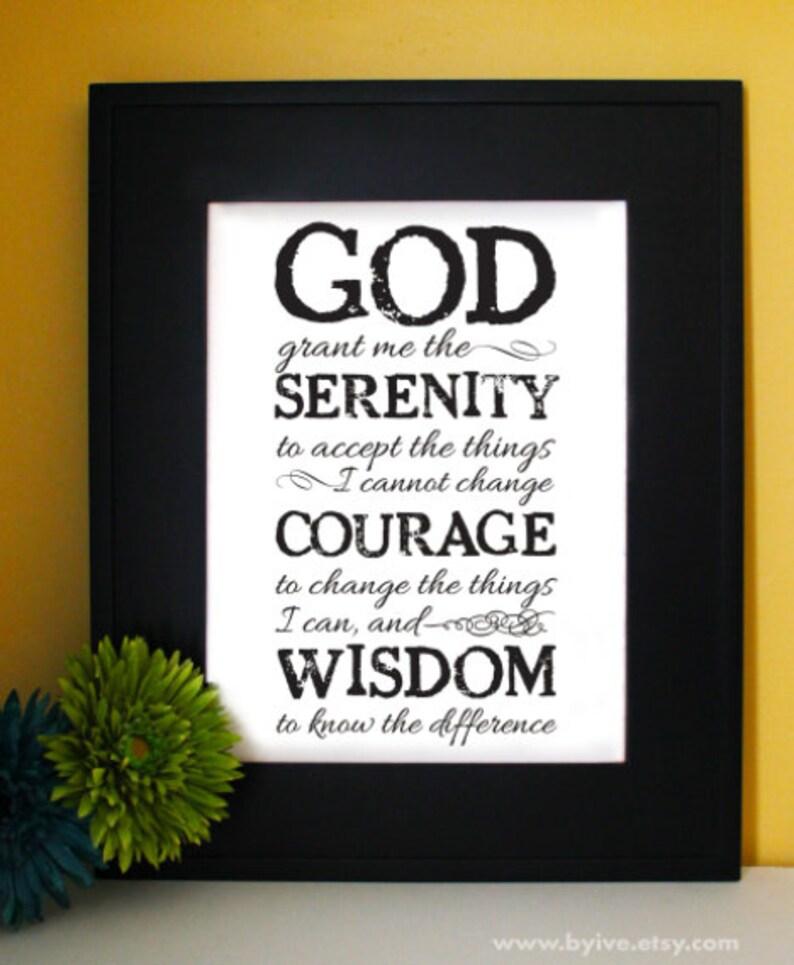 Serenity prayer in english