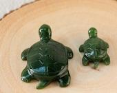 Green Nephrite Jade Turtles, Carved Jade Turtle, Canadian Nephrite Jade, Good Luck Jade, Healing Jade