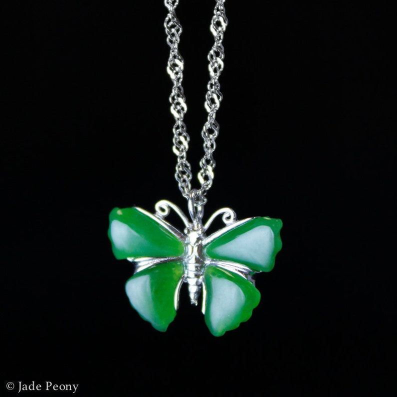 A Fine Nephrite Jade Carved Silver Letter A Pendant 925.