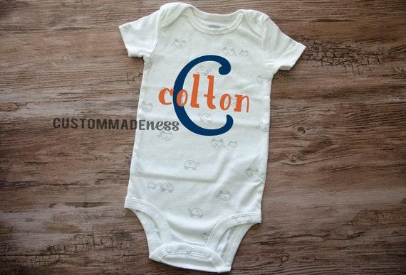 Nombre Personalizado del Niño Bebé Top T-Shirt Lindo Bebé Ropa Niños Personalizado B
