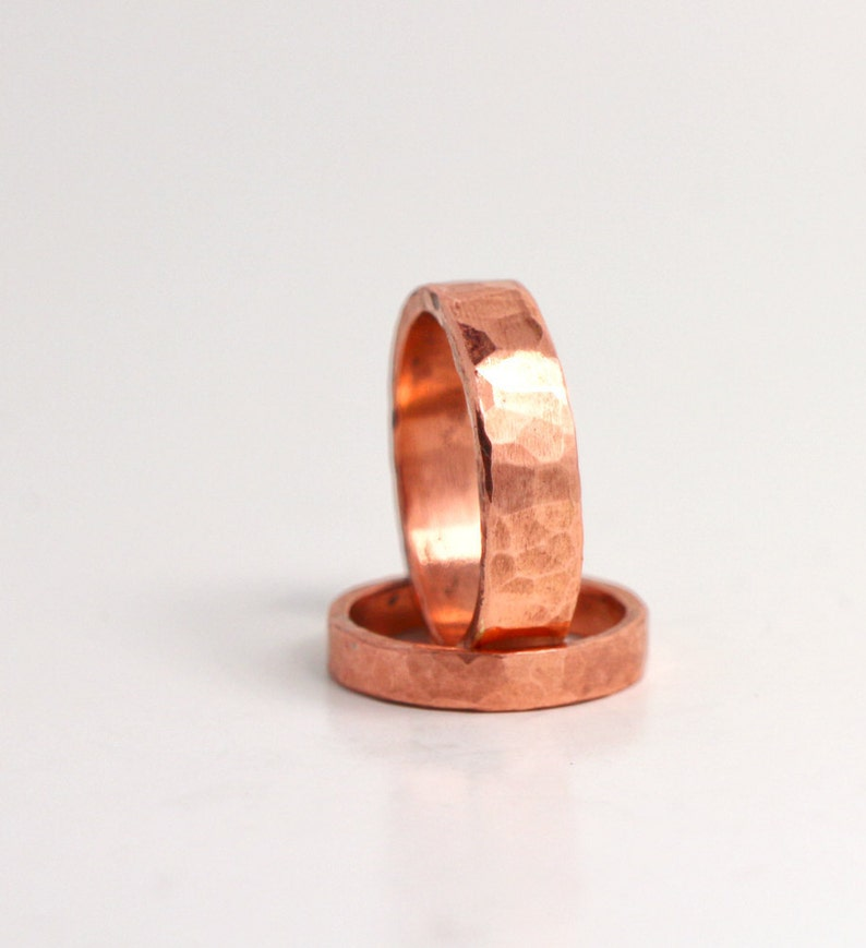 Wedding Ring Set His and Hers 7th Anniversary Forged And image 0