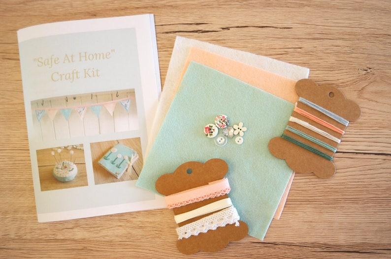 Safe at Home Craft Kit felt craft kit embroidery craft kit for image 0