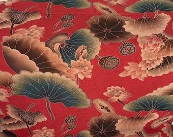 "Vintage Style Print Handmade Gambiered Guangdong Silk, 43""/110cm 55mm, for Dresses/Shawl/Windbreaker/Robe/Shirt/Skirt/Cheongsam, By the Yard"