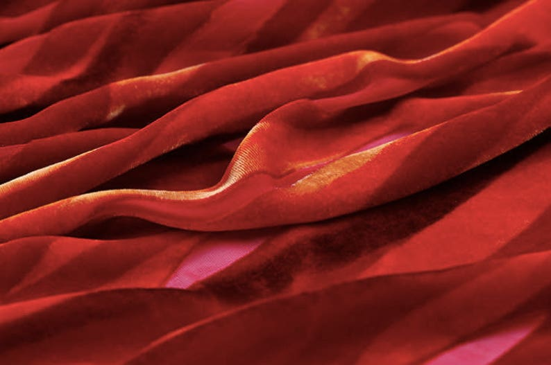 shawls,cheongsam by the yard Silk Velvet Fabric red lines 44.8\u201d 8mm Fancy Fabric for  dresses silk rayon burnout