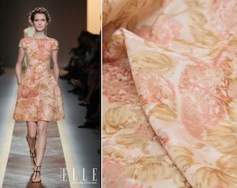 "High Fashion Silk Fabric, Romantic Sakura Oganza style Silk fabric, Jacquard brocade, 45""/114cm 142g/m, for Dresses/Blouse/ - by the metes"