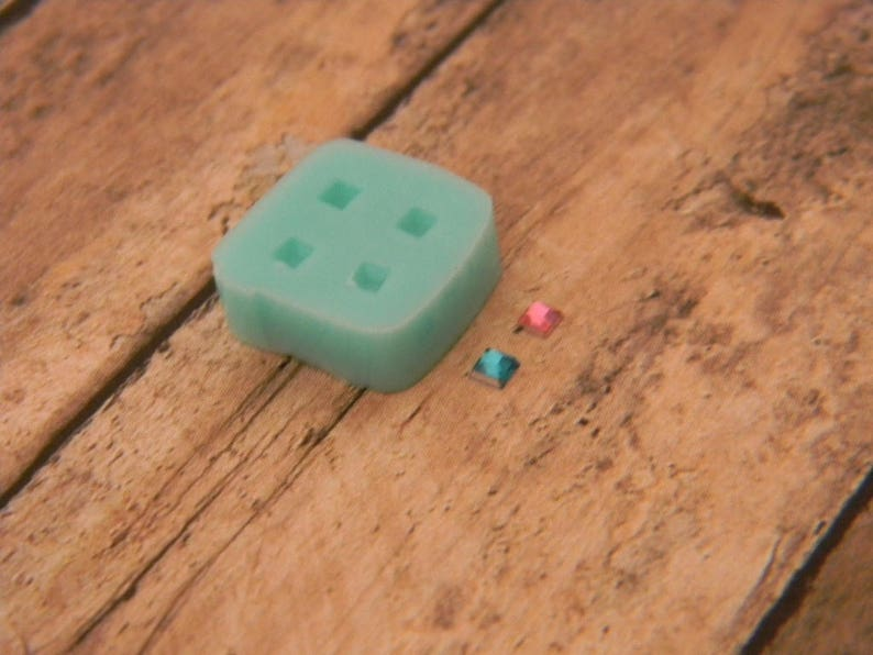 Tiny Faceted Square Silicone Flexible Mold