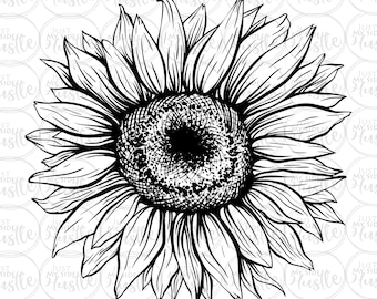 Sunflower Outline Etsy Please feel free to get in touch if you can't find the sunflower outline clipart your looking for. sunflower outline etsy