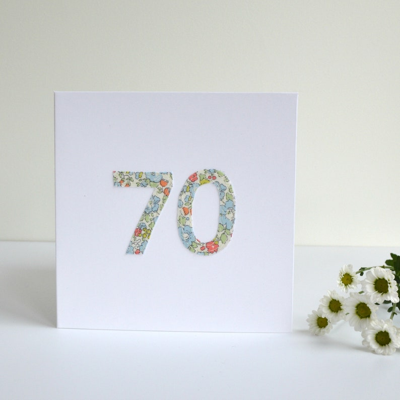 70th Birthday Card Age 70 For Year Old
