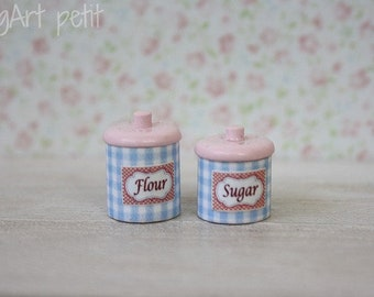 Kitchen canisters  for dollhouse scale